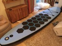 Nearly new 10ft Aquarpark stand up paddle board (SUP). Only used 3 times