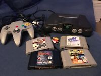 N64 Nintendo 64 console and 4 games