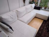 Corner sofa unit in white