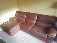 DFS LEATHER GIRD CORNER SOFA - EXCELLENT CONDITION