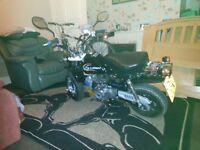 lifan gy e monkey 110cc rode legal pitbike monkey
