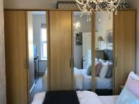 Harvey's Double + Single Wardrobes, Beech Effect, Excellent Condition