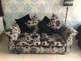 2 Seater Sofa, Black & Grey-MUST GO ASAP, make an offer!