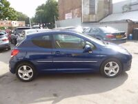Peugeot 207 Sport,3 door hatchback,rare auto,1 previous owner,2 keys,only 12,000 miles,full MOT,