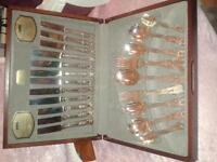 Viners vintage 'Kings Royale' canteen cutlery set