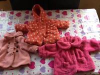 3 X girls coats age 3-6 months