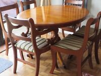 Dining Table - Yew, Oval £200