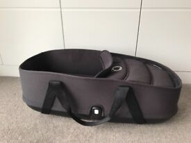 Black Bugaboo Bee Carrycot, Base & Adapters