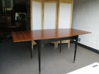VINTAGE WRIGHTON RETRO TEAK EXTENDING DRAW LEAF DINING TABLE FREE DELIVERY