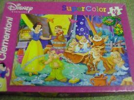 Clementoni - Snow White and Seven Dwarfs 60 piece Jigsaw - excellent condition