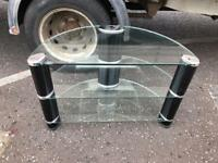 Clear glass with black sides tv cabinet £20