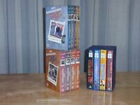 VHS Boxed Sets: Auf Wiedersehen Pet, series 1 & 2 and Tommy Cooper Collection