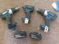 makita power tools some working some spares