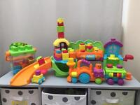 Fisher price stack and surprise set with 3 separate toys