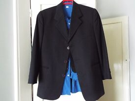 Boy's 3 piece Navy Blue Suit with blue shirt and two ties