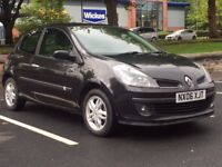 RENAULT CLIO 2006 (06 REG)**£995**LONG MOT*FULL SERVICE HISTORY*BLACK*MANUAL*PX WELCOME*DELIVERY