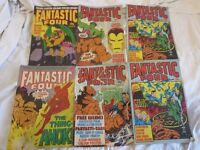 6 Old Marvel Comic books 1980's