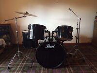 Drum kit Pearl Forum FZ for sale, missing parts.