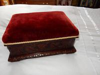 Carved Oak Footstool/Slipper Box