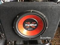Sony xplod sub and fly amp