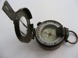Prismatic Marching Compass, British Army, Stanley of London. Full working order ideal navigation aid