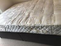 Kingsize divan bed with mattress - £60 delivered