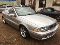 2004 VOLVO C70 2.3 T5 GT AUTOMATIC CONVERTIBLE SILVER