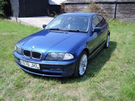 BMW 318i SE E46 4 speed Auto, Leather trim, Air con, Parking sensors, CD, history etc.