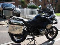 BMW GS1200 ADVENTURE 2013 TRIPLE BLACK WITH FULL HISTORY AND ONLY 15000 MILES