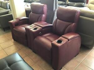Leather Reclining Home Theatre Seating