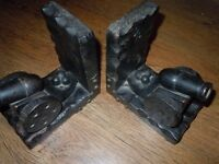 ANTIQUE PAIR CANNON BOOKENDS