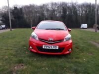 Toyota yaris 1.3 chilli red excellent condition