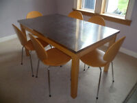 John Lewis contemporary dinning table and chairs