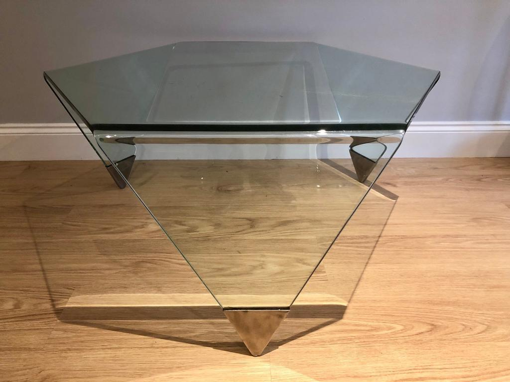 Designer Hexagonal Gl Coffee Table