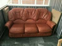 As new leather sofa