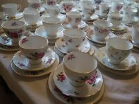 Lovely Vintage china hire. Tablecloths Sweet Jars Vintage bunting. etc All for hire.