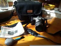 Pentax MZ-7 with Pentax 28-80 lens and accessories