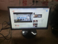 """for sale aoc 20"""" led widescreen computer monitor £25"""