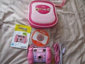 Pink Vtech Kidizoom Children's Camera - USB lead - Memory card & special Pink case