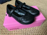 NEW Girls School Shoes Skittles Size 10