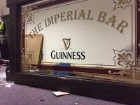 Guinness Mirror From Pub / Bar 6x4Ft - Rare Item