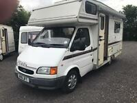 Ford transit with Elddis 4 berth motor home