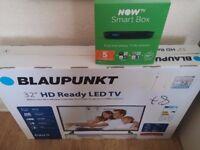 BNIB 32 inch LCD HD TV plus BNIB NowTV HD SmartBox