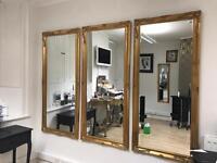 Gold Mirrors salon hairdresser