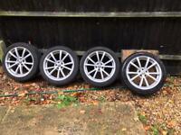 """5x98 17"""" Alfa Romeo 147 GT 156 TI Style Alloy Wheels Alloys With Tyres"""