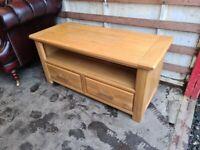 Solid Oak TV stand Cabinet Unit Oak Furnitureland (Delivery Available)