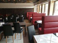 Closed down restaurant furniture
