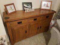 Solid oak, oak furniture land side board