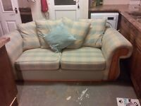 Large sofa and matching arm chair