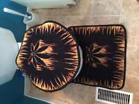 Toilet Seat Cover & Mat from up in smoke